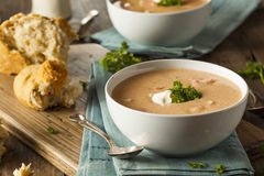 Homemade Lobster Bisque Soup Royalty Free Stock Photo
