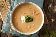 Homemade Lobster Bisque Soup Stock Photos