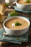 Homemade Lobster Bisque Soup Stock Image