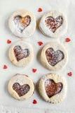 Homemade love cookies Stock Photo