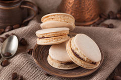 Homemade macaroons on plate Royalty Free Stock Photography