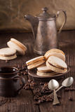 Homemade macaroons on plate Royalty Free Stock Photos