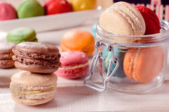 Homemade macroons Stock Photos
