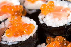 Homemade maki sushi Stock Photography