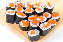 Homemade maki sushi Royalty Free Stock Images