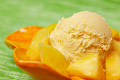 Homemade mango ice cream Royalty Free Stock Image