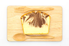 Homemade marble butter cake Royalty Free Stock Image