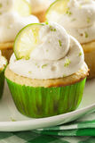 Homemade Margarita Cupcakes with Frosting Royalty Free Stock Images