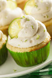 Homemade Margarita Cupcakes with Frosting Stock Photos