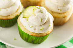 Homemade Margarita Cupcakes with Frosting Stock Photography