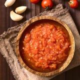Homemade Marinara or Pomodoro Tomato Sauce Stock Image