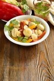 Homemade marinated / pickled / mushrooms with vegetables Royalty Free Stock Photography