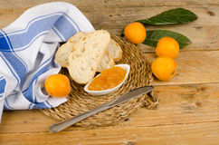 Homemade marmalade stock image