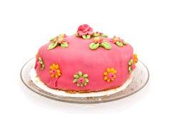 Homemade marzipan cake Stock Photos