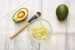 Avocado mask stock photo