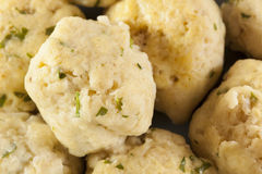 Homemade Matzo Balls with Parsley Stock Images