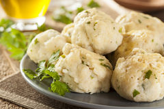 Homemade Matzo Balls with Parsley Royalty Free Stock Photos