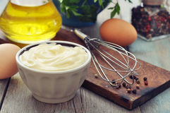 Homemade mayonnaise Stock Images