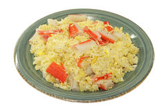 Homemade Meal - Fried Rice with Crab Stock Photo