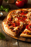 Homemade Meat Loves Pizza Royalty Free Stock Images