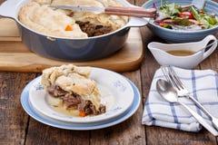 Homemade meat pie stock image