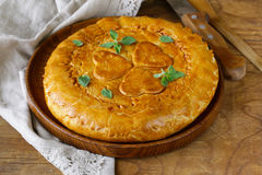 Homemade meat pie with potatoes Royalty Free Stock Photos