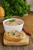 Homemade meat snack сhicken liver pate Royalty Free Stock Photography
