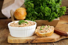 Homemade meat snack сhicken liver pate Stock Photo