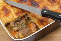 Homemade meat and veg pie Stock Photography