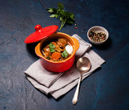 Homemade meat and vegetable stew Royalty Free Stock Photo