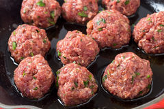 Homemade meatballs Stock Photography
