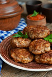 Homemade meatballs with meat and onions Stock Image