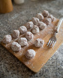Homemade meatballs ready to be cooked Royalty Free Stock Photography