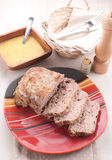 Homemade meatloaf with garlic sauce Stock Photo
