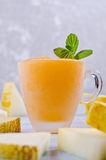 Homemade melon sorbet. On a light background. Selective focus Royalty Free Stock Photos