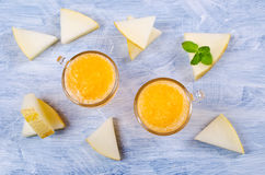 Homemade melon sorbet Royalty Free Stock Images