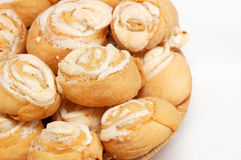 Homemade meringue cookie. Isolated on white background Stock Images