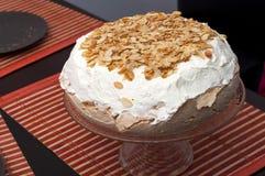 Homemade meringue with cream Stock Photography