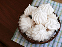 Homemade meringue on a table Royalty Free Stock Image