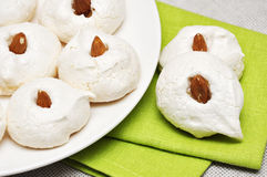 Homemade meringues Stock Photos