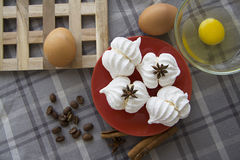 Homemade meringues Stock Photography