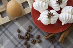 Homemade meringues Stock Photos