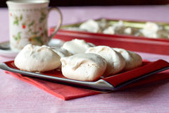 Homemade meringues for tea time Royalty Free Stock Photo