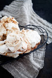 Homemade meringues Stock Images