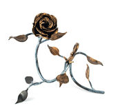 Homemade metal rose Stock Photo