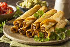 Homemade Mexican Beef Taquitos Royalty Free Stock Photos