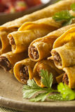 Homemade Mexican Beef Taquitos Royalty Free Stock Image