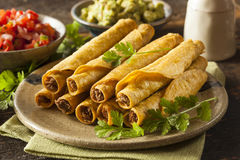 Homemade Mexican Beef Taquitos Royalty Free Stock Photo