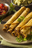 Homemade Mexican Beef Taquitos Royalty Free Stock Images