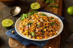Homemade Mexican Corn Salad. With Cilantro Lime and Cheese royalty free stock images